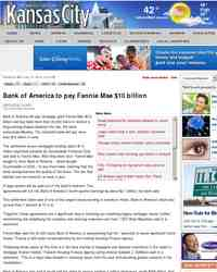 Bank of America to pay Fannie Mae 10: KansasCity.com
